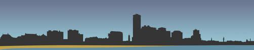 Vlissingen skyline silhouette by Sed4tives