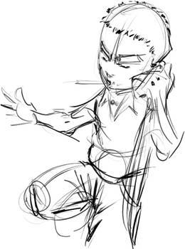 Le galerien sketch