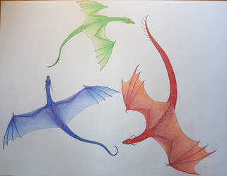 Inheritance cycle dragons by TurtleClairou