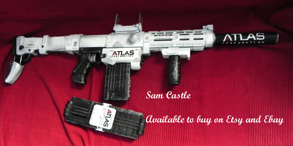 COD Atlas nerf gun artic camo by Sam-Castle ...