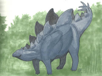Stegosaurus in Markers by Annibal