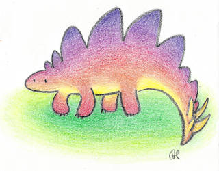 Stegosaurus in Crayon by Annibal