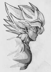 Goku SS by Polisenso