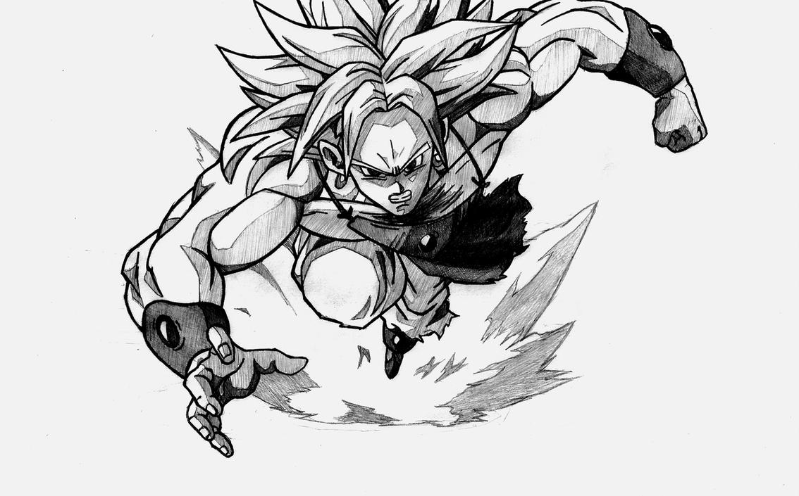 Broly SS by Polisenso