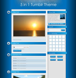 5 In 1 Tumblr Theme
