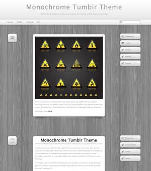 Monochrome Tumblr Theme