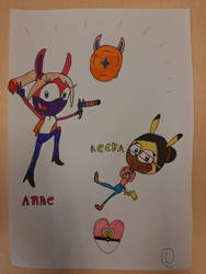 anne the rabbit and recka the pikachu