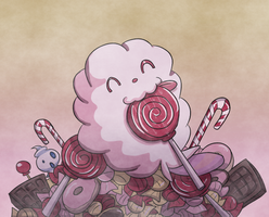 Swirlix in Candy Land by Rogo-the-Golden-Boy