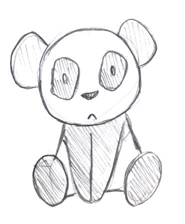 Sketch-a-Day 031 - Panda by Rogo-the-Golden-Boy