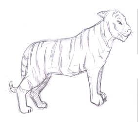 Sketch-a-Day 087 - Tiger Study by Rogo-the-Golden-Boy