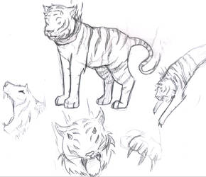 Sketch-a-Day 089 - Demon Tiger by Rogo-the-Golden-Boy