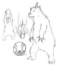 Sketch-a-Day 91 - Demon Bear by Rogo-the-Golden-Boy