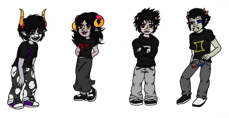 Walls covered in draws Homestuck_sketchdump_4_by_eryel-d4fpm5t