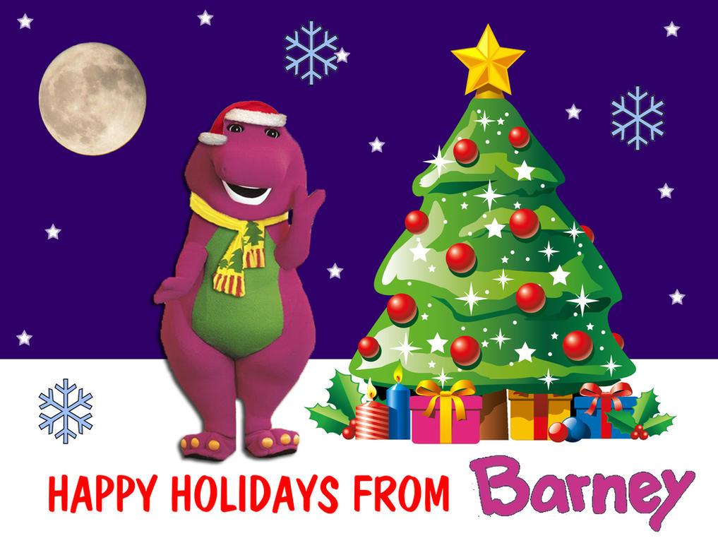Happy Holidays from Barney by JeremyCrispo19 on DeviantArt