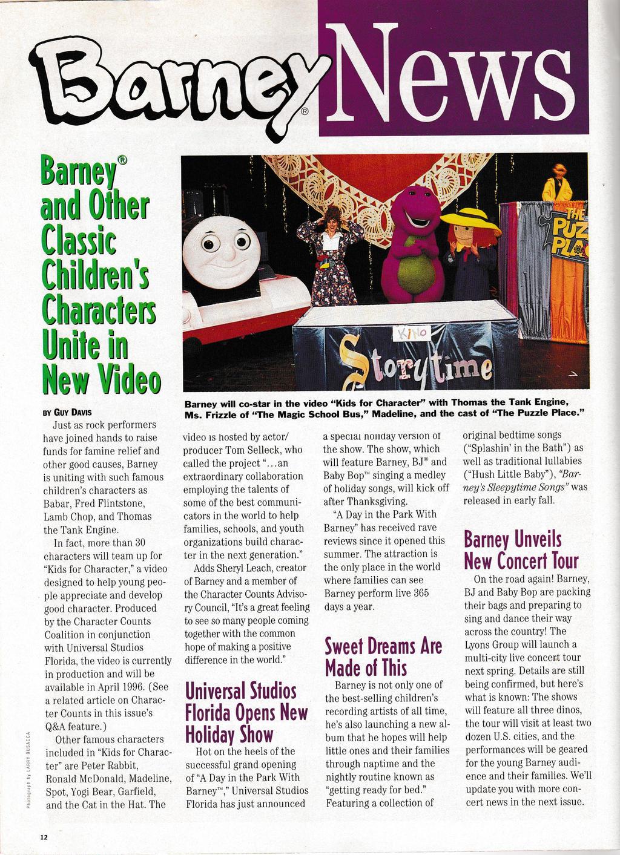 Barney News from Winter/Spring 1996 by JeremyCrispo19 on DeviantArt