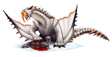 Monster Hunter Pixel - Barioth by KucingBudhug