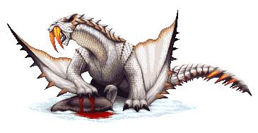 Monster Hunter Pixel - Barioth by KucingBudhug