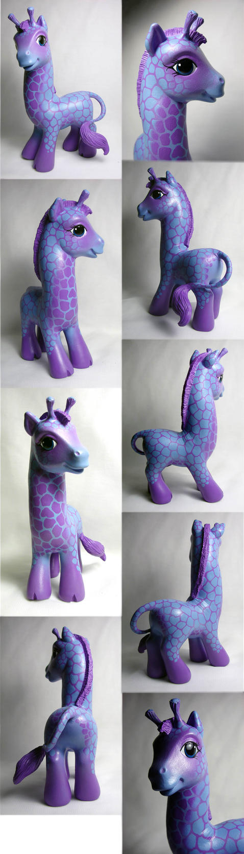 Giraffe custom little pony by Woosie