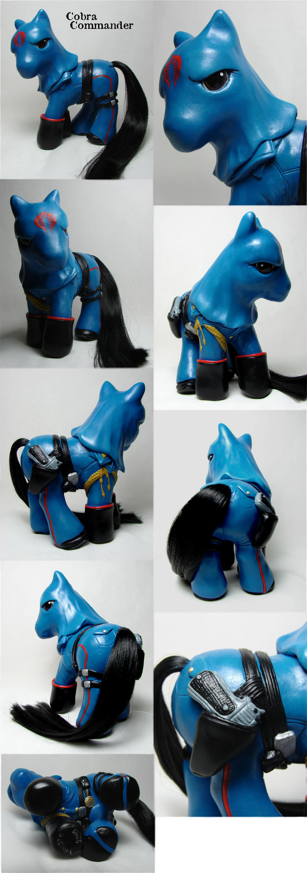 Cobra Commander little pony by Woosie