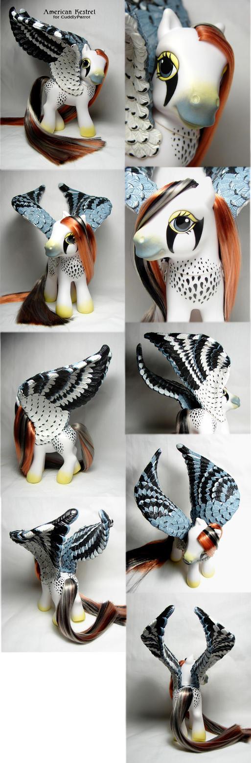 American Kestrel pegasus by Woosie