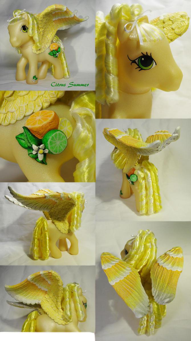 Citrus Summer custom pony by Woosie