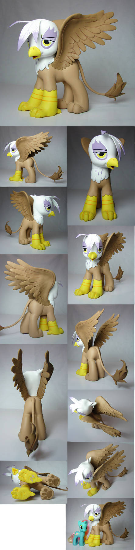 Gilda the Griffon my little pony FIM custom by Woosie