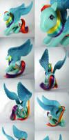 FiM G1 Rainbow Dash custom pegasus