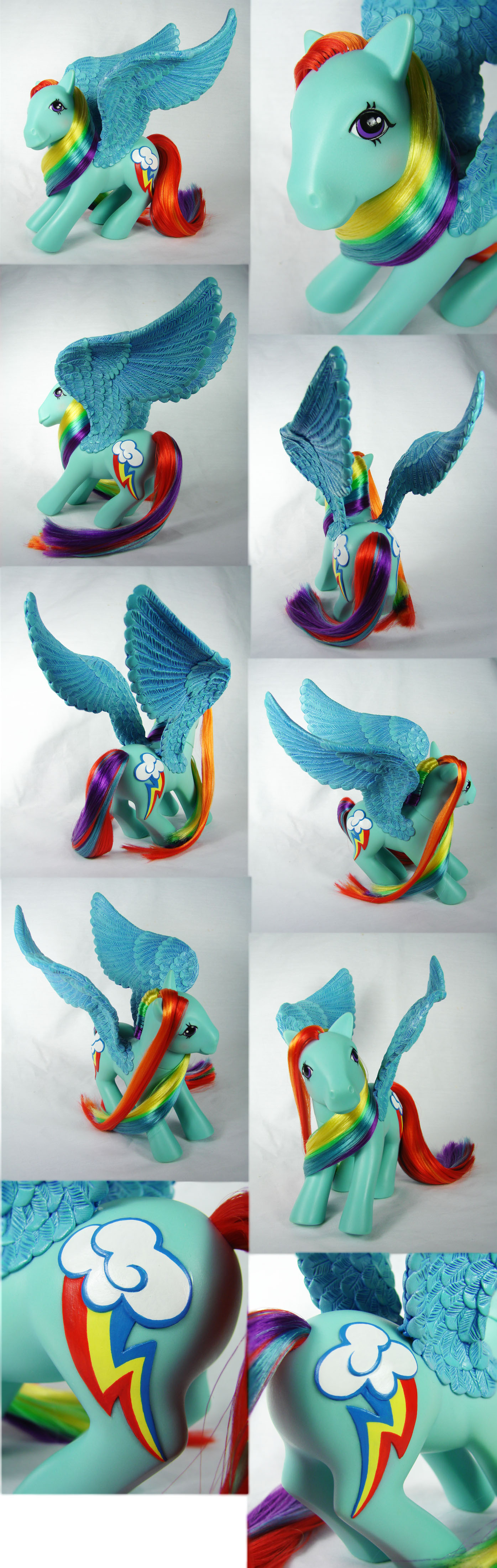FiM G1 Rainbow Dash custom pegasus by Woosie