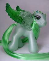 Baby Joyful Jade little pony by Woosie