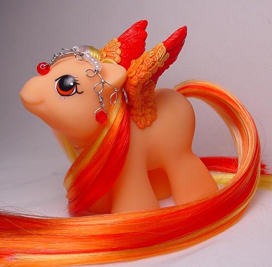 Newborn Flickering Flame pony by Woosie