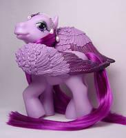 Purple Plume pegasus pony by Woosie