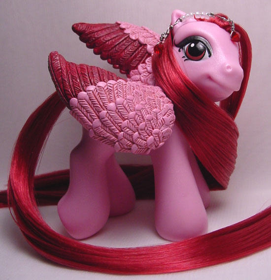 Baby Ruby pegasus pony by Woosie