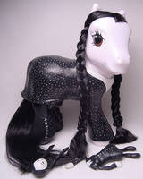Wednesday Addams little pony by Woosie