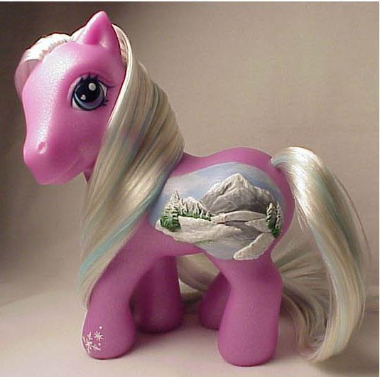 Wintry River little pony by Woosie