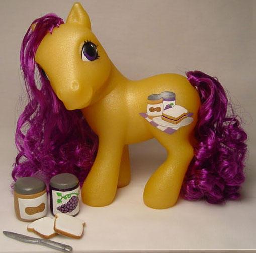 Jelly Curl little pony by Woosie