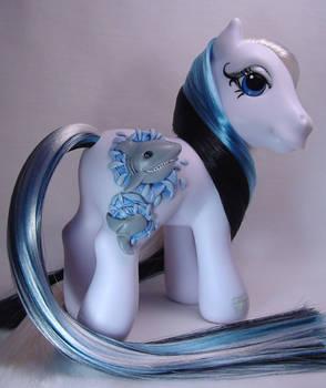 3-D Shark little pony custom