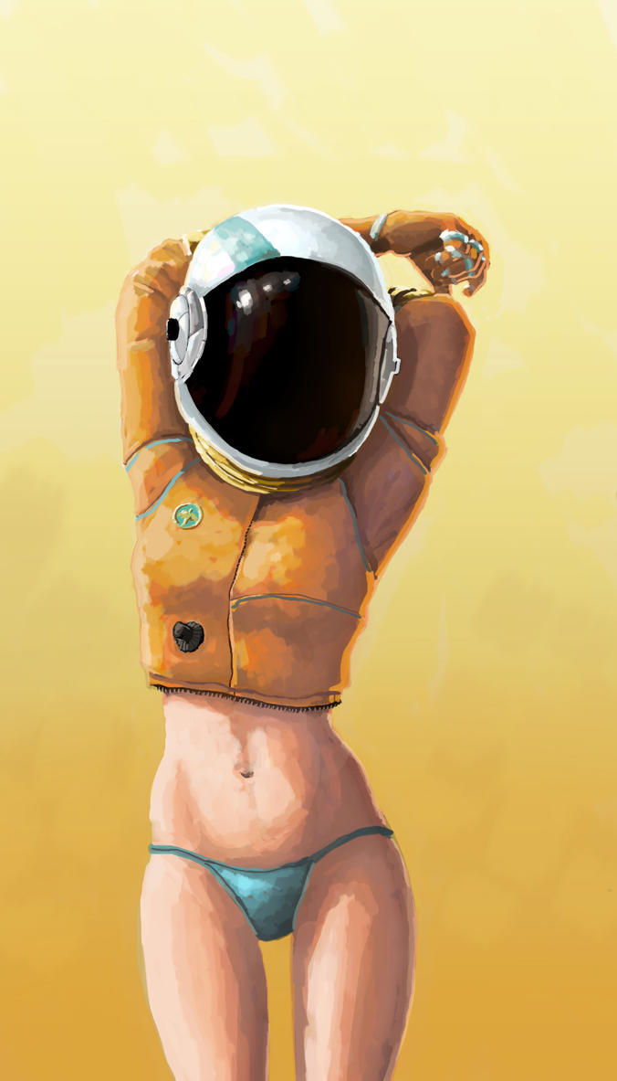Space Girl. by the-primitive-muse