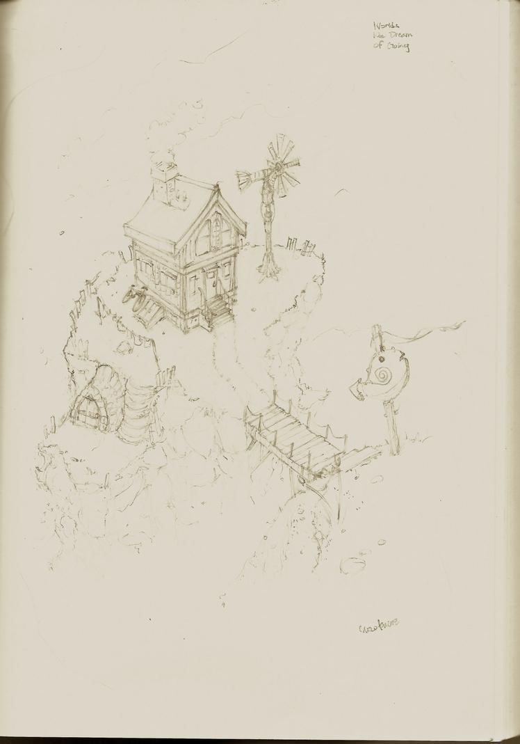 Sky home sketch by bandanana