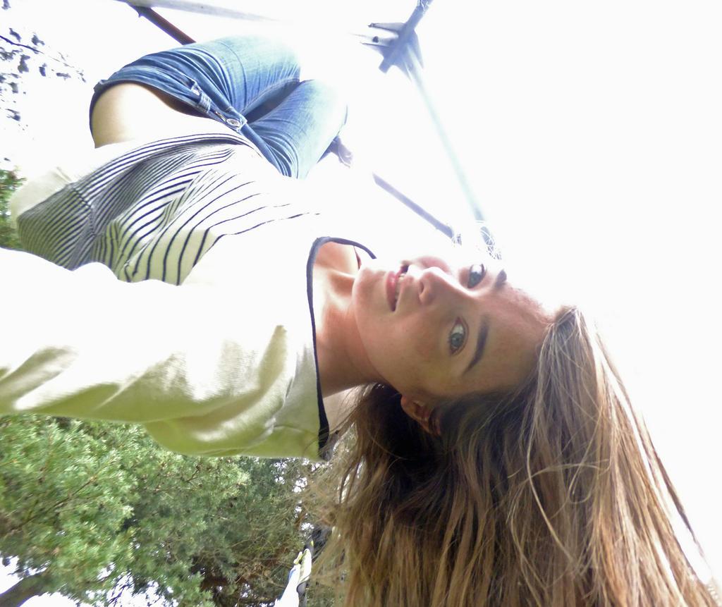 hanging upside down wank