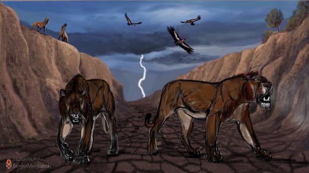 Panthera Atrox. Thunder Twins on the Prowl.