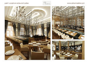 paint and sclupture restaurant by ozhan