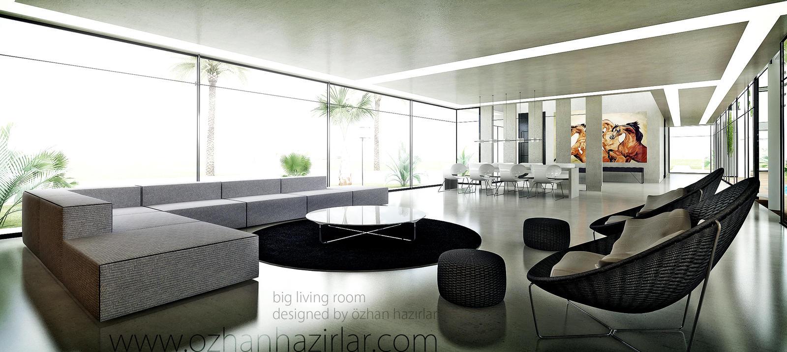 big living room by ozhan on DeviantArt