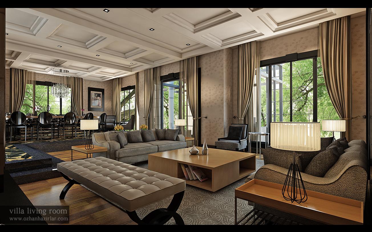 villa living room by ozhan