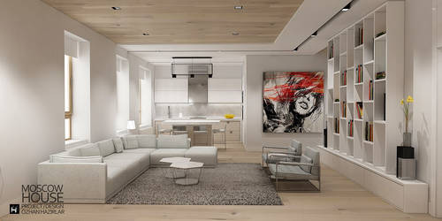 Moscow House Living room by Ozhan Hazirlar