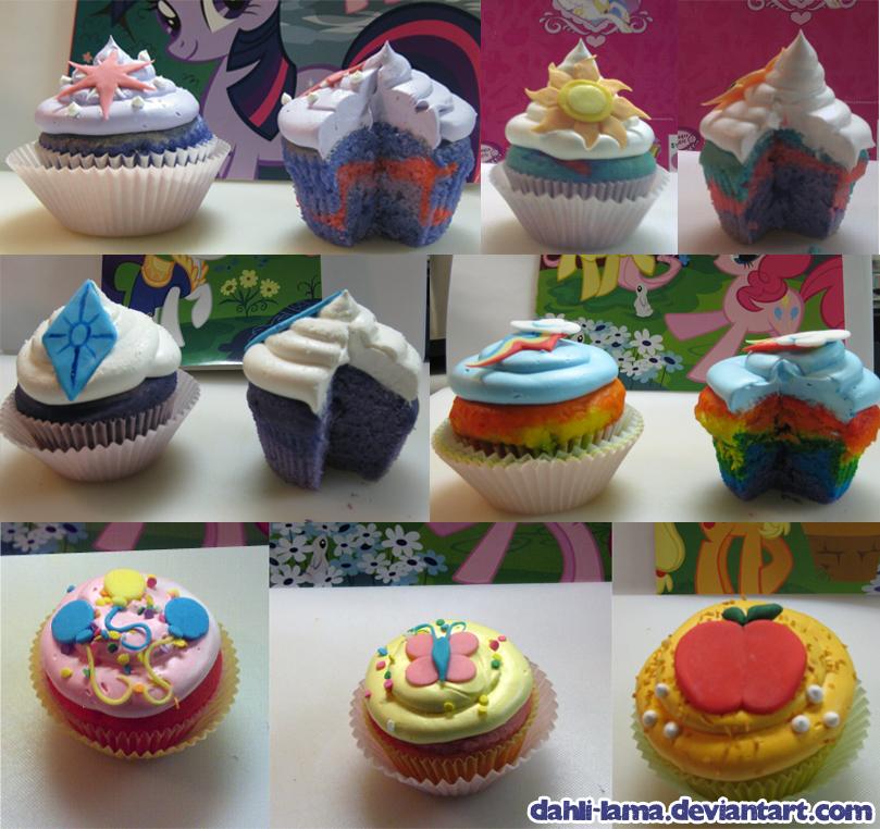 081411 -  MLP:FIM Cupcakes2 by dahli-lama