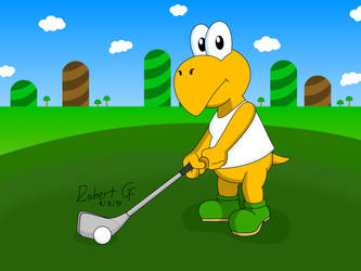 Beach Koopa Golf by RobertGDraws