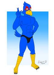 Falco's Bikini Briefs Pose by RobertGDraws