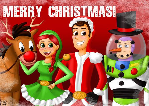 Toy Story Christmas : Toy story christmas by erikathegoober on deviantart