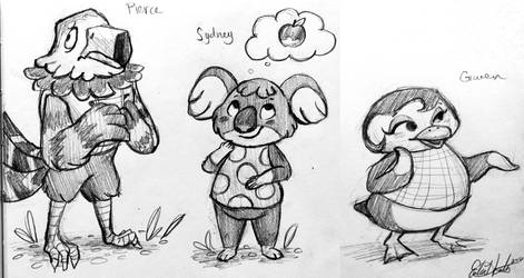 Animal Crossing Villager Sketches 6-29-16 by erikathegoober