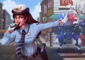 Officer D.Va by erikathegoober